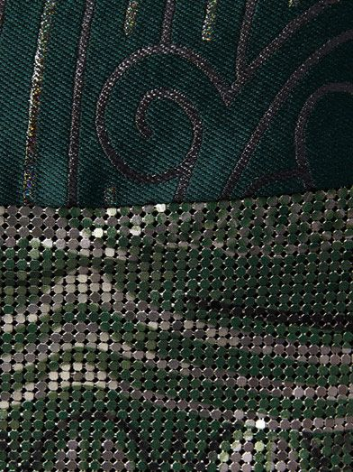 Mary Katrantzou Mod print mesh pencil skirt