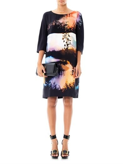 Mary Katrantzou Woodstock sunset-print silk dress