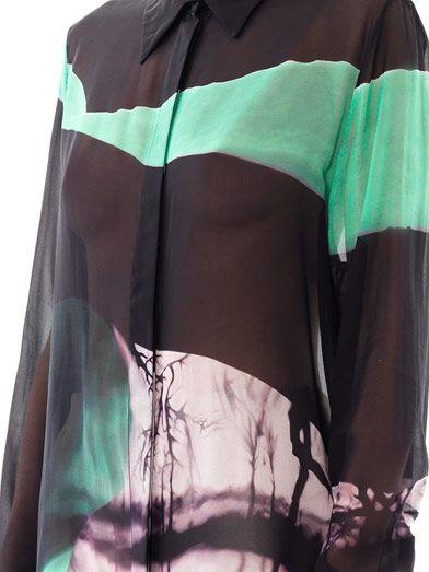 Mary Katrantzou Gala emira emerland landscape-print blouse