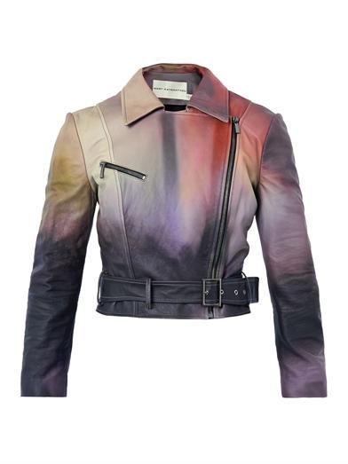 Mary Katrantzou Versicolour leather biker jacket