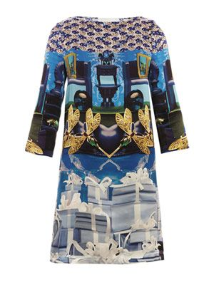 Sphinx crystal present-print dress