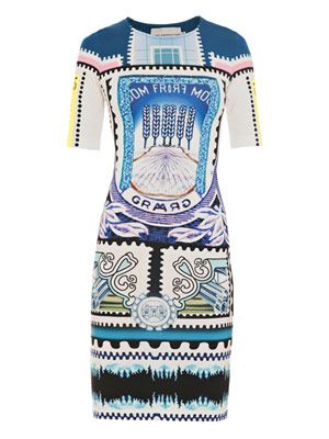 Venezuela postage stamp-print dress