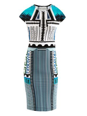 Bloomberg-print jersey dress