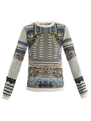 Rodizo intarsia knit sweater