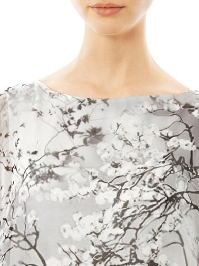 Mary Katrantzou Dijon blossom-print waterfall dress