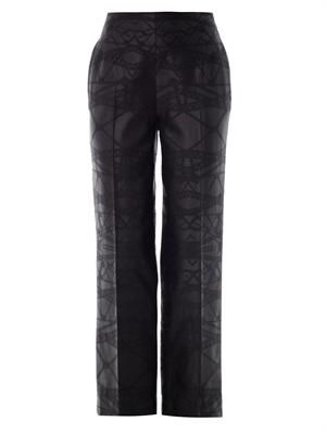 Bridge jacquard wool  trousers