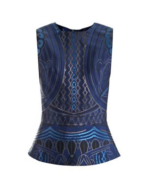 Dino midnight jacquard top