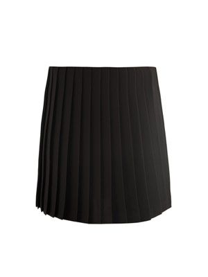 Charmeuse pleated skirt