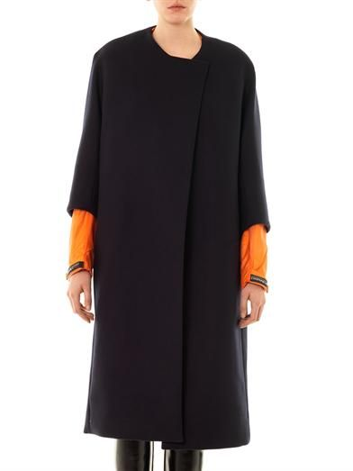 Thomas Tait Contrast-cuff wool coat