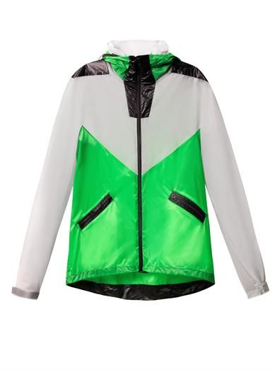 Thomas Tait Bi-colour hooded jacket