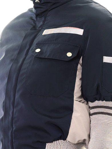 Thomas Tait Bi-colour quilted ski jacket
