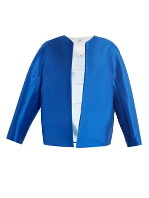 Zibeline collarless jacket