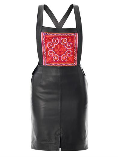 Thu Thu Airside leather pinafore dress