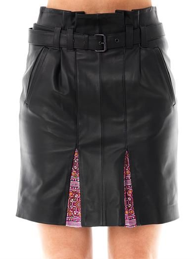 Thu Thu Airside leather skirt