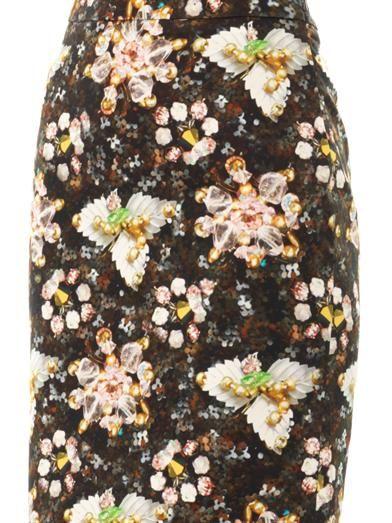 Mary Katrantzou Decora jewel and flower-print skirt