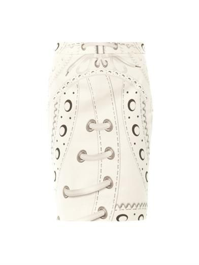 Mary Katrantzou Glacine brogue-print pencil skirt