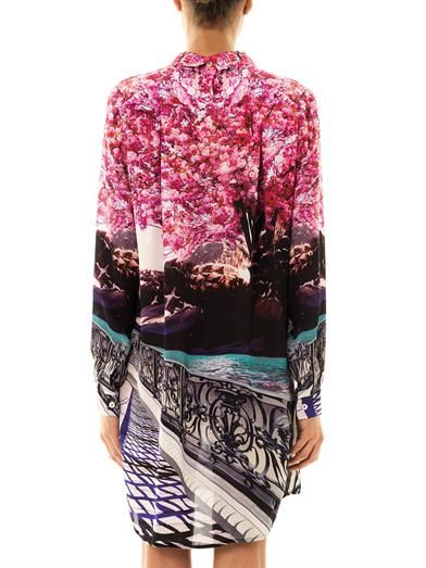 Mary Katrantzou Blossom-print silk dress