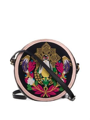Pigeon Badge circle cross-body bag