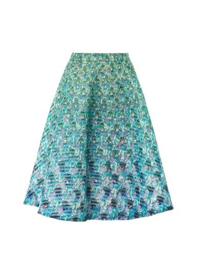Mary Katrantzou Babelona jewel-print midi skirt