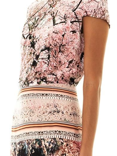 Mary Katrantzou Silver lake-print dress