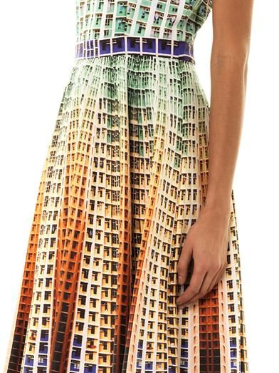 Mary Katrantzou Suddenly apartment-block print dress