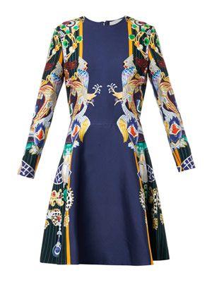 Chrono dragon and parrot-print dress