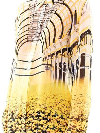 Mary Katrantzou Cupola arch-print silk blouse