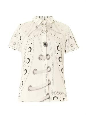 Glacine brogue-print shirt