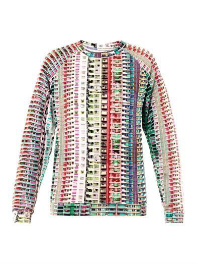 Mary Katrantzou Foli rose grid-print sweatshirt