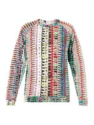 Foli rose grid-print sweatshirt