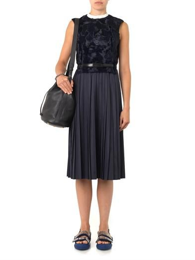 Toga Pulla Contrast-panel pleated dress