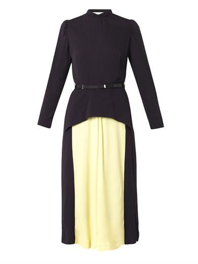 Toga Pulla Bi-colour crepe dress