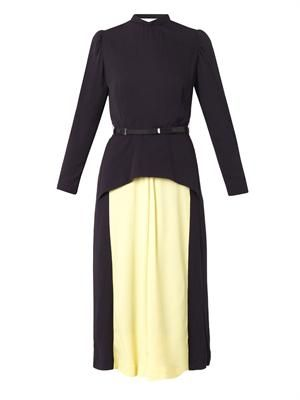 Bi-colour crepe dress