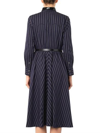 Toga Pulla Striped cotton-twill dress