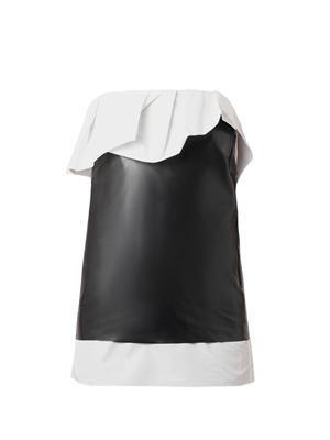 Bi-colour latex skirt