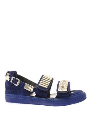 Metal-embellished trainer-style sandals