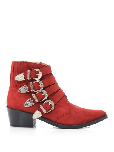 Toga Pulla Suede buckle boots