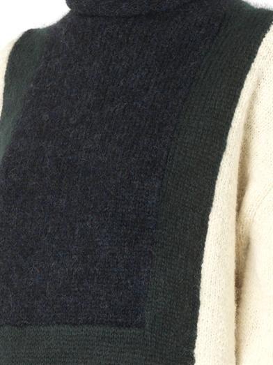 Toga Pulla Colour-block roll-neck sweater