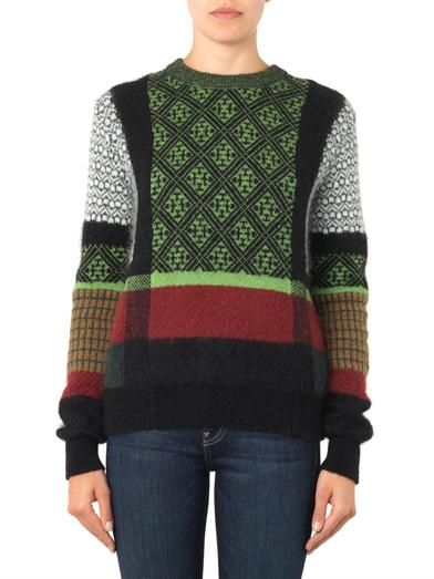 Toga Pulla Jacquard mohair and wool-blend sweater