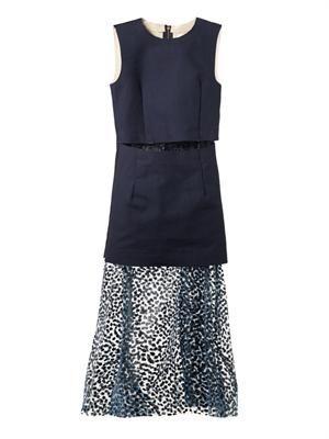 Layered full-length dress