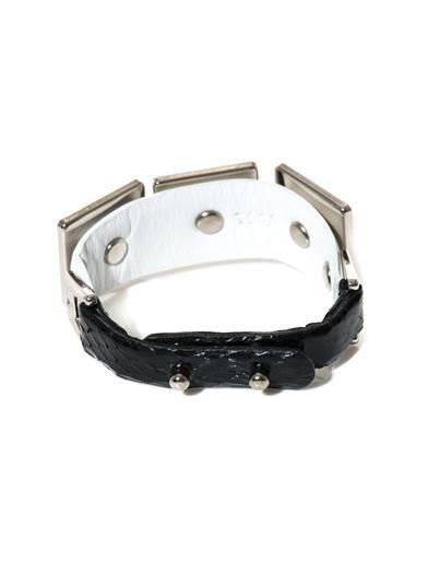 Toga Pulla Square pyramid leather bracelet
