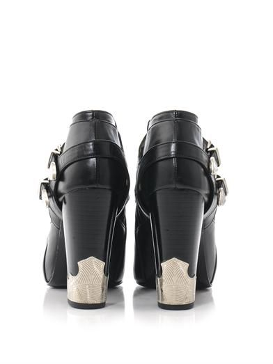 Toga Pulla Double buckle high heel ankle boots