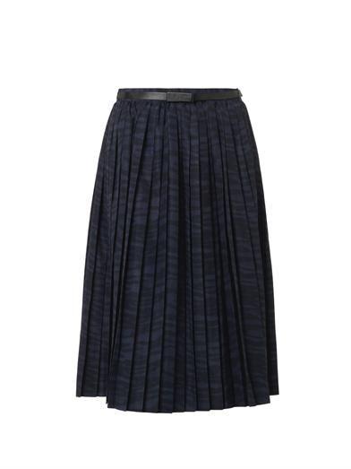 Toga Pulla Printed pleat skirt