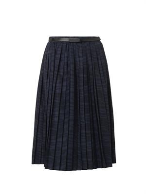 Printed pleat skirt