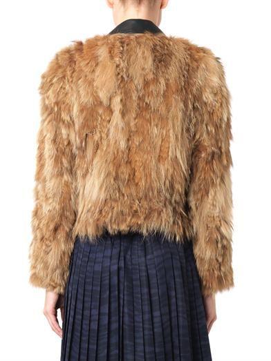 Toga Pulla Leather and fur biker jacket