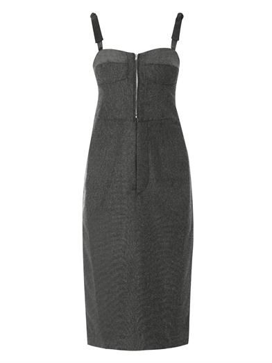 Toga Pulla Bow-strap bustier dress