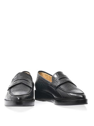 Toga Pulla Embossed leather loafers