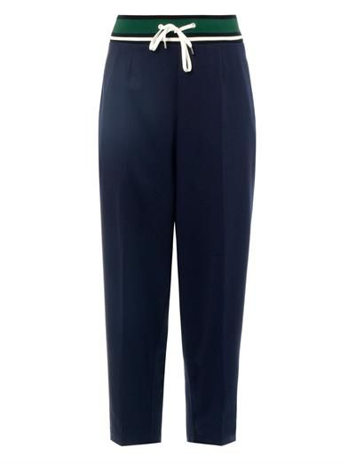 Toga Pulla Cropped crepe trousers