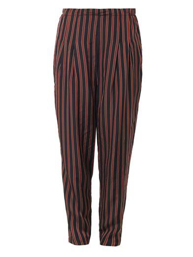 Toga Pulla Striped high-waisted relaxed trousers
