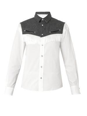 Western fringed shirt